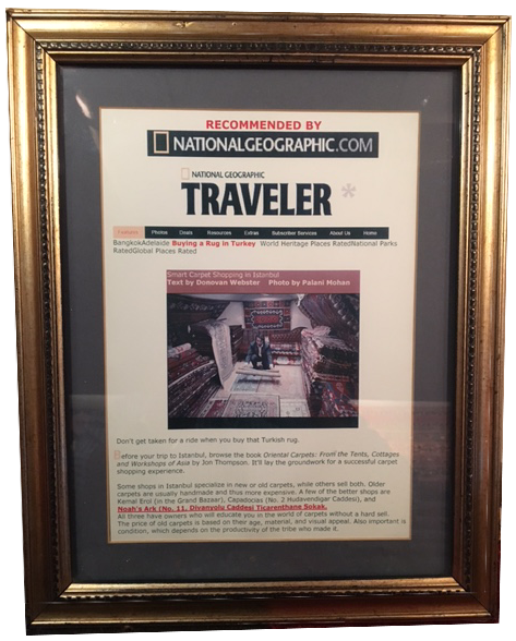 National Geographic Noah's Ark framed article