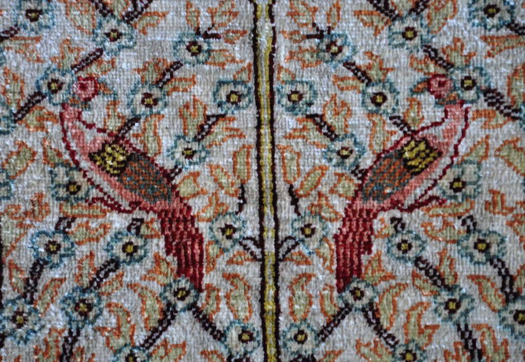Silk rugs are so soft and not so heavy as wool or cotton rugs.